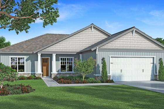Craftsman Exterior - Front Elevation Plan #938-94
