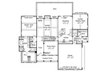 European Floor Plan - Main Floor Plan Plan #927-20