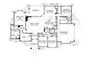 Mediterranean Style House Plan - 4 Beds 3 Baths 2541 Sq/Ft Plan #80-165 Floor Plan - Main Floor Plan