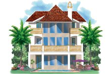 Architectural House Design - Mediterranean Exterior - Rear Elevation Plan #930-149