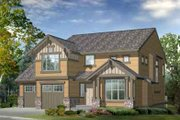 Craftsman Style House Plan - 2 Beds 2.5 Baths 1986 Sq/Ft Plan #132-106 Exterior - Front Elevation