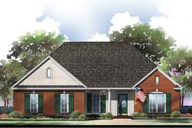 Southern Exterior - Front Elevation Plan #21-148 - Houseplans.com