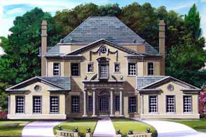 European Exterior - Front Elevation Plan #119-146
