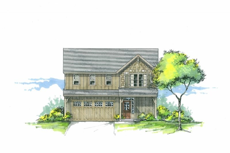 Craftsman Exterior - Front Elevation Plan #53-538