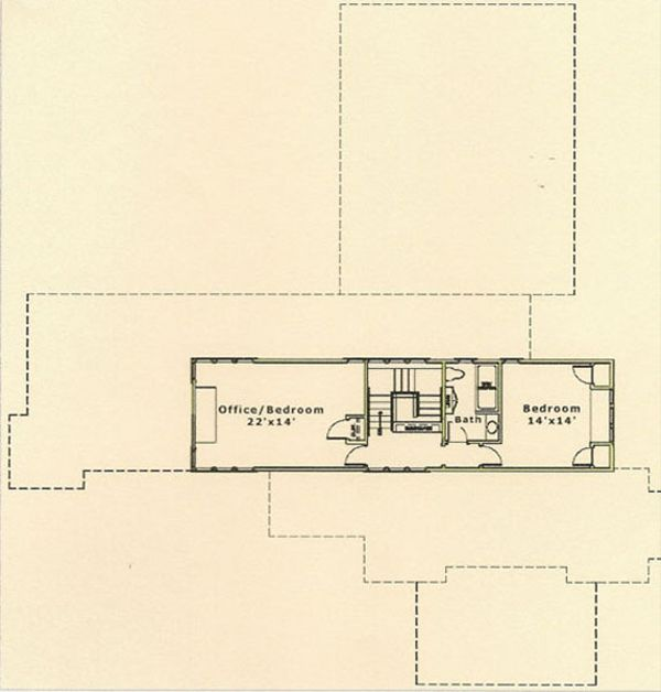 Prairie Floor Plan - Upper Floor Plan Plan #454-5