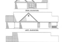 House Plan Design - Traditional Exterior - Rear Elevation Plan #17-199