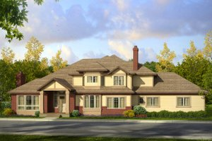 Traditional Exterior - Front Elevation Plan #124-1008