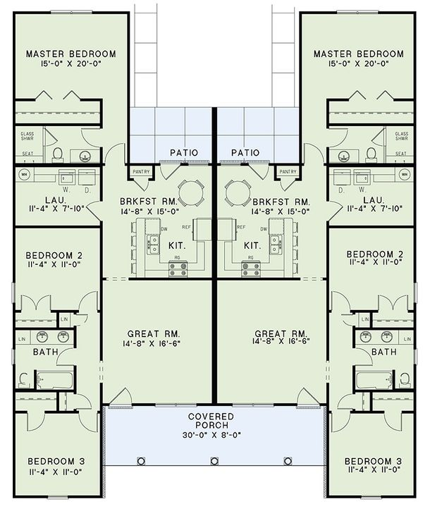 Country Floor Plan - Main Floor Plan Plan #17-2562