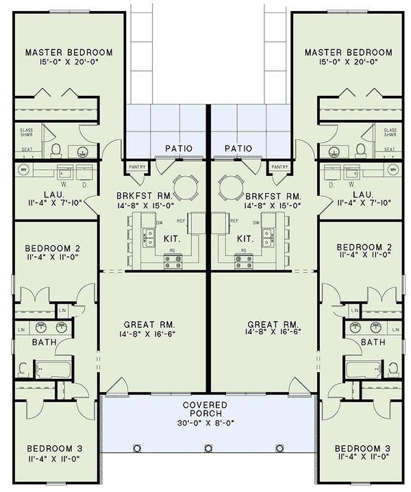 House Design - Country Floor Plan - Main Floor Plan #17-2562