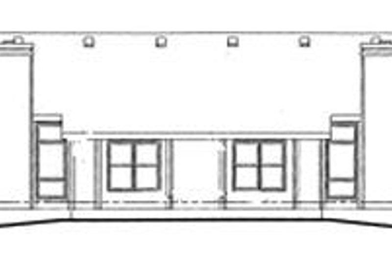 Traditional Exterior - Rear Elevation Plan #20-392 - Houseplans.com