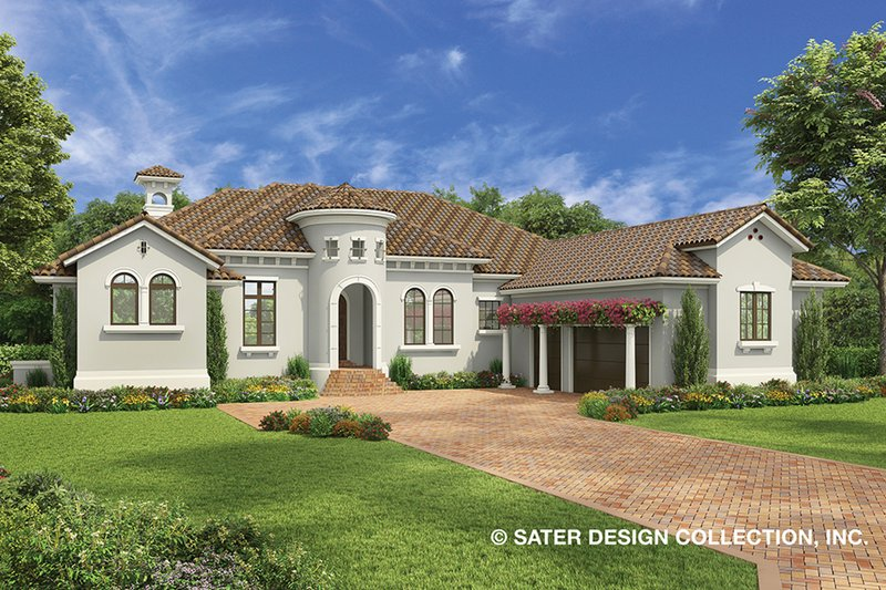House Plan Design - Mediterranean Exterior - Front Elevation Plan #930-478