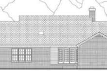Country Exterior - Rear Elevation Plan #406-220