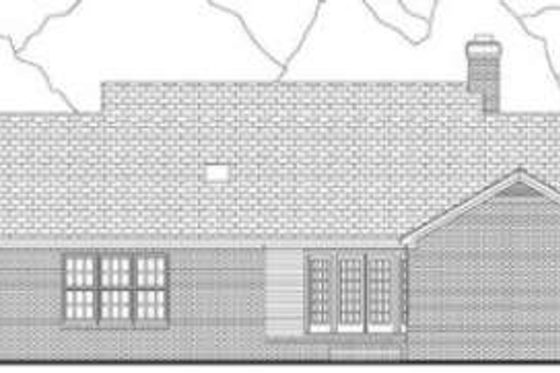 Country Exterior - Rear Elevation Plan #406-220 - Houseplans.com