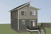 Modern Style House Plan - 3 Beds 2.5 Baths 1265 Sq/Ft Plan #79-291 Exterior - Rear Elevation