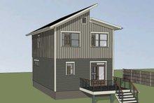 Architectural House Design - Modern Exterior - Rear Elevation Plan #79-291