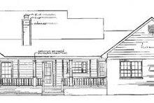 Traditional Exterior - Rear Elevation Plan #14-117