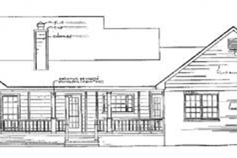 Traditional Exterior - Rear Elevation Plan #14-117 - Houseplans.com