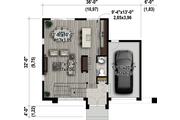 Contemporary Style House Plan - 3 Beds 1 Baths 1736 Sq/Ft Plan #25-4416 Floor Plan - Main Floor Plan