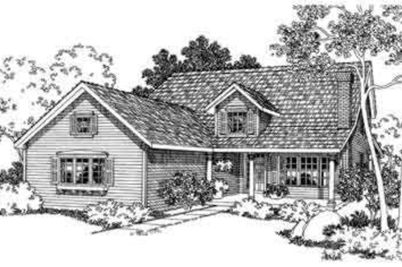 Home Plan - Traditional Exterior - Front Elevation Plan #124-346