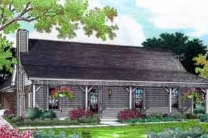 Cottage Exterior - Front Elevation Plan #45-244
