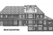 Traditional Style House Plan - 5 Beds 3 Baths 4765 Sq/Ft Plan #119-234 Exterior - Rear Elevation