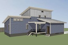 House Design - Modern Exterior - Rear Elevation Plan #79-320