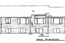 Dream House Plan - Traditional Exterior - Rear Elevation Plan #58-136