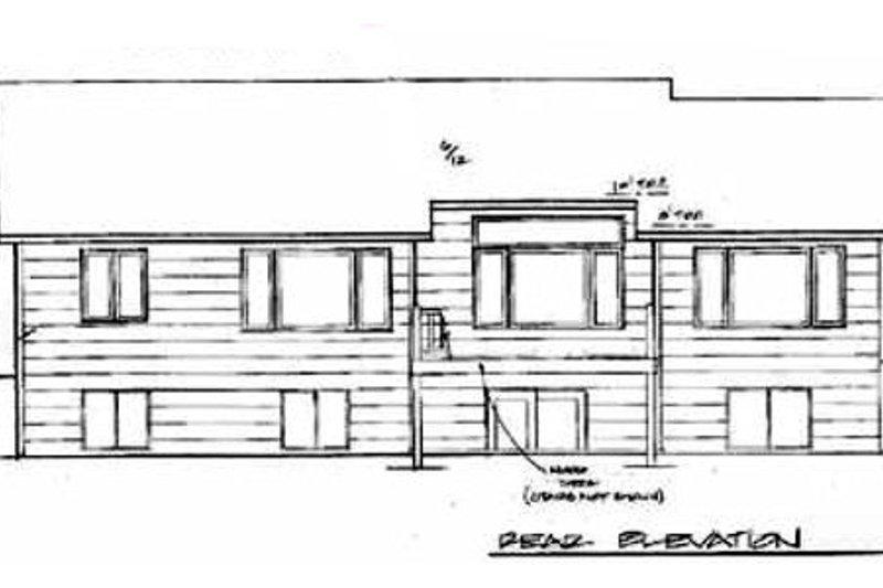 Traditional Exterior - Rear Elevation Plan #58-136 - Houseplans.com