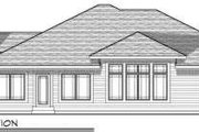Ranch Style House Plan - 3 Beds 2 Baths 1938 Sq/Ft Plan #70-683 Exterior - Rear Elevation
