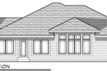 Dream House Plan - Ranch Exterior - Rear Elevation Plan #70-683
