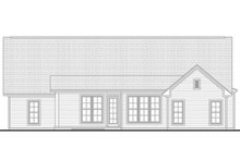 Country Exterior - Rear Elevation Plan #430-91