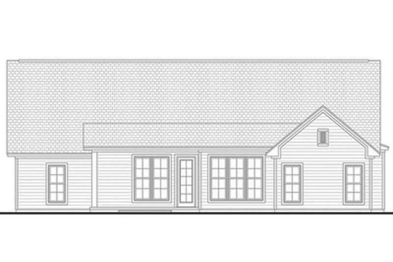 Country Exterior - Rear Elevation Plan #430-91 - Houseplans.com