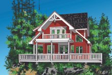 Cottage Exterior - Front Elevation Plan #118-134