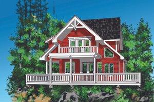 Cottage Exterior - Front Elevation Plan #118-134