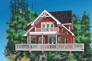 House Design - Cottage Exterior - Front Elevation Plan #118-134
