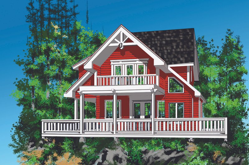 Cottage Exterior - Front Elevation Plan #118-134 - Houseplans.com