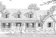 Cottage Style House Plan - 4 Beds 2.5 Baths 2659 Sq/Ft Plan #46-434 Exterior - Other Elevation