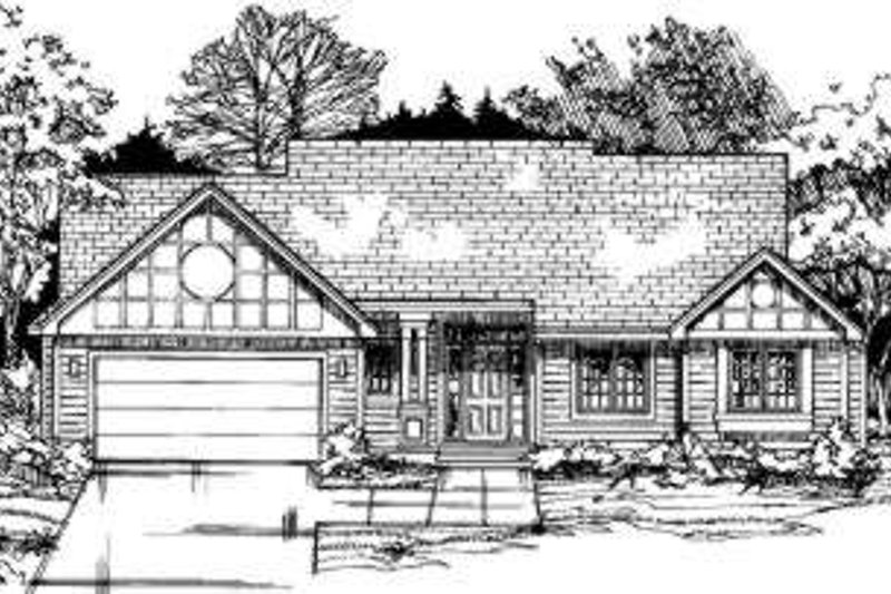 Traditional Style House Plan - 3 Beds 2 Baths 1753 Sq/Ft Plan #334-113 Exterior - Front Elevation