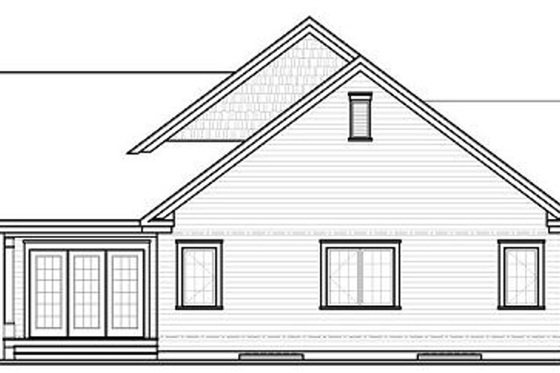 Traditional Exterior - Rear Elevation Plan #23-790 - Houseplans.com