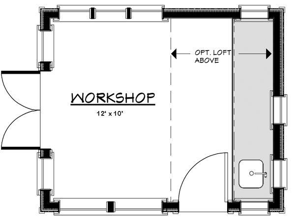 Craftsman Floor Plan - Other Floor Plan Plan #917-15