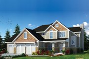 Craftsman Style House Plan - 3 Beds 3 Baths 2815 Sq/Ft Plan #20-2366 Exterior - Front Elevation