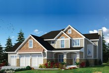 Craftsman Exterior - Front Elevation Plan #20-2366