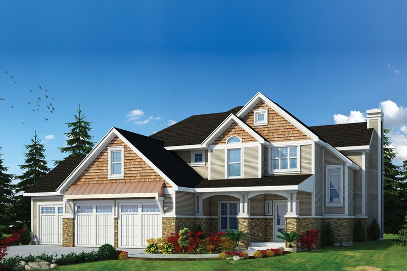 House Plan Design - Craftsman Exterior - Front Elevation Plan #20-2366