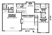 European Style House Plan - 3 Beds 2.5 Baths 1717 Sq/Ft Plan #34-239