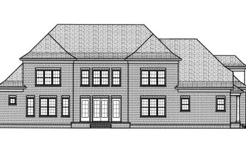 Colonial Exterior - Rear Elevation Plan #413-833 - Houseplans.com
