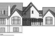 European Exterior - Rear Elevation Plan #70-852