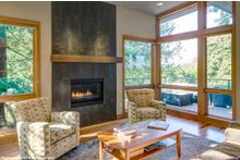 Architectural House Design - Contemporary Interior - Family Room Plan #48-656
