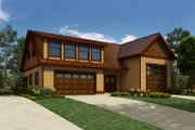 Country Style House Plan - 1 Beds 2 Baths 2637 Sq/Ft Plan #118-139 Exterior - Front Elevation