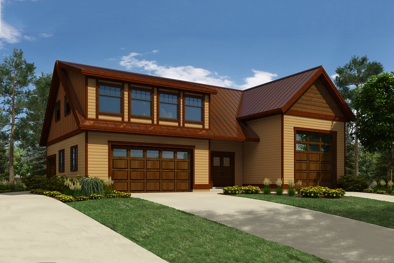 Country Style House Plan - 1 Beds 2 Baths 2637 Sq/Ft Plan #118-139