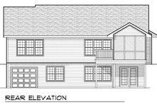 Ranch Exterior - Rear Elevation Plan #70-802